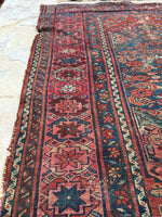 3'4 x 4'7 loveworn antique Hamadan rug