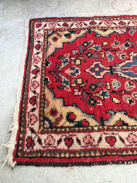 1'6 x 2'5 antique Persian rug mat (#797)