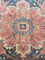 9'7 x 12'6 Antique Heriz Rug / Large Vintage Rug (#1354)