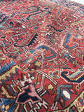 6'11 x 9'5' Antique Heriz / Large Antique Heriz / 7x9 Rug (#802ML)