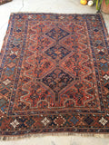 5'8 x 6'10 Antique Persian Shiraz Tribal Rug (#1358)