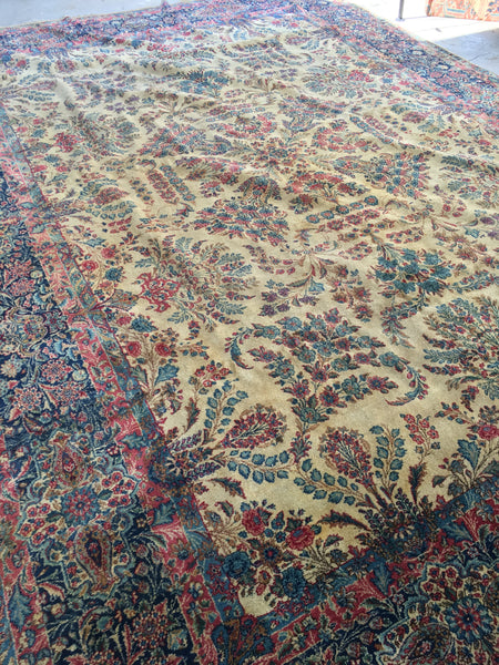 9'10 x 14' antique Persian Kerman (#804)