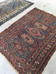4' x 5'9 Antique Soumak flat weave rug (#1148A)