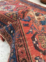 3 x 5'10 Antique Persian Malayer / Small Vintage Rug
