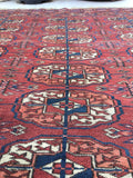 3'5 x 3'6 Antique Tribal Turkmen / Turkoman Rug / Small Antique Rug