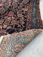 3'6 x 6'1 blue Kurdish Rug / Small Rug / Vintage Rug
