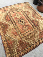 4'5 x 5'2 Antique Kazak rug