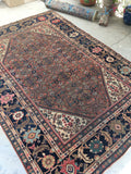 7'3 x 10'2 antique rust Persian Mahal (#1152)