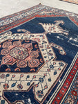 3'10 x 6'6 Antique Persian Bibikabad Rug (#1517ML) / 4x6 vintage rug