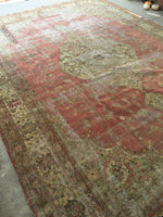 9'2 x 13'4 worn Antique Turkish Rug (#1369)