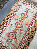1'8 x 3'1 Antique Turkish Rug / small vintage rug / scatter rug