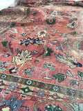 9'1 x 13' love worn antique Persian Mahal Rug
