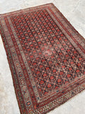 4'2 x 6' Antique Persian Malayer (#1529ML) / Small Vintage Rug / 4x6 vintage Rug