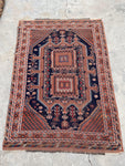 4'1 x 5'10 Antique Persian Afshar Rug (#1532) / 4x6 vintage rug