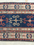 3'8 x 5'4 Antique Kazak Rug