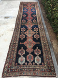 3'5 x 13'2 antique Kurdish runner