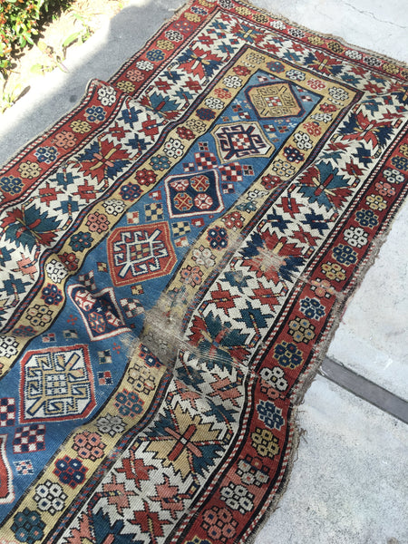3'7 x 8'6 Antique Caucasian Runner (#987ML)