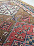 3'8 x 8'10 Persian Camel Hair Runner / Antique Rug Runner (#988ML)