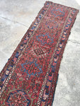 2'2 x 8'1 antique Persian Gharajeh Heriz runner (#989ML)