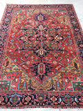 7'9 x 10'6 Antique Heriz Rug