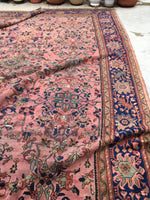 10'2 x 13'5 Antique Persian pink Mahal Rug (#593)