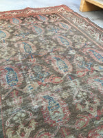 3'4 x 4'9 antique muted Persian rug (#822)