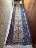 2'11 x 12'5 Antique Kurdish Runner (#1513) / Rug Runner / 3x12 Vintage Runner