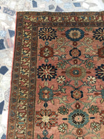 3'9 x 6'4 antique Persian Malayer with floral art