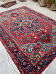 6'9 x 9'7 Antique Persian Heriz (#1681) / 7x10 Vintage Rug