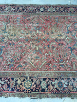 6'3 x 9'4 Antique Persian Heriz (#1170ML) / 6x9 vintage rug / large vintage rug
