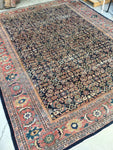 9'10 x 12'5 Midnight Blue Antique Persian Mahal (#833)