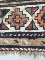 3'7 x 8'2 antique Caucasian Runner (#1016ML)