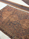 6'10 x 10' Antique Qashqai Rug / 7x10 antique rug