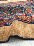 2'6 x 23'9 Camel Hair Antique Serab Rug / Runner