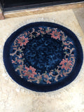 Antique Chinese Round Rug
