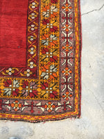 "Antique Turkish Prayer Rug - 4'3"" X 7'8"""