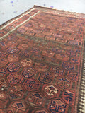 3' x 6' Antique Baluch Rug / Small Oriental Rug