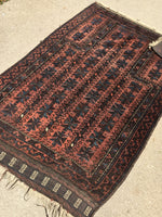 "2'10"" x 4'6"" Antique Baluch Rug"