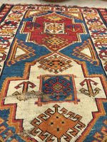 "3'2"" x 5'6"" Antique Caucasian Rug"