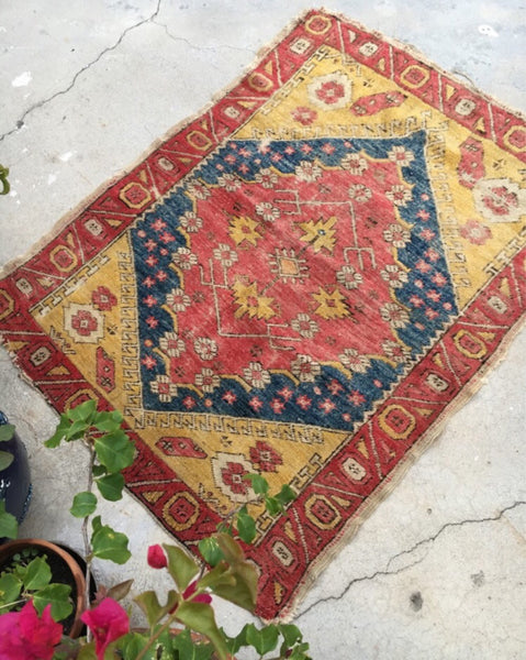 "3'2"" x 4'1"" Antique Turkish Rug"