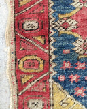 "on hold for serena. 3'2"" x 4'1"" Antique Turkish Rug"