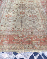 8'11 x 10'6  Late 19th Century Turkish Oushak Rug