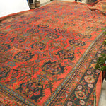 16.5 x 26.5 Oversize Antique Turkish Oushak Rug