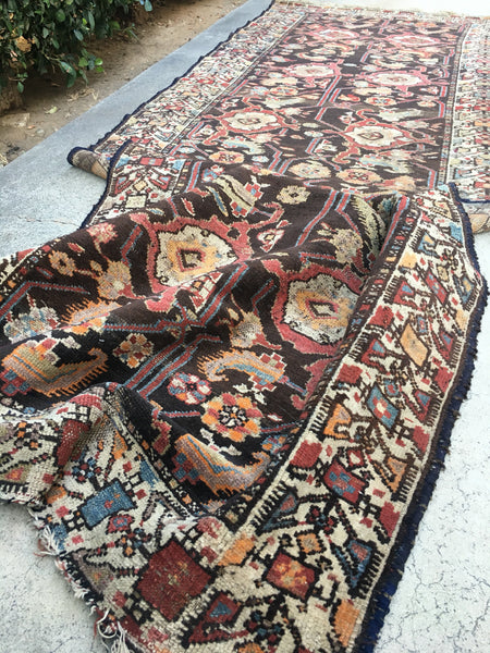 "3'2"" x 9'2"" Antique Bakhtiari Runner"