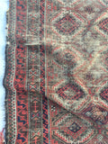 "2'7"" x 4'8"" Antique Baluch Rug / Small Oriental Rug"