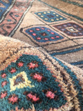 "3'10"" x 5'5"" Antique Camel hair Persian Kurdistan rug (#1511)"