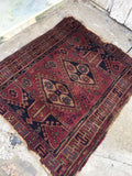 "3'1"" x 3'4"" Antique Turkish Rug / Small Turkish Rug"