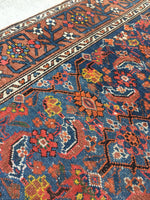 "3'7"" x 13'10"" Antique Runner / Rug Runner / 14 foot runner"
