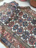 "3'8"" x 7' Antique Vintage Bijar Rug"