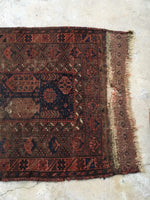 "3' x 4'9"" Antique Baluch Rug"